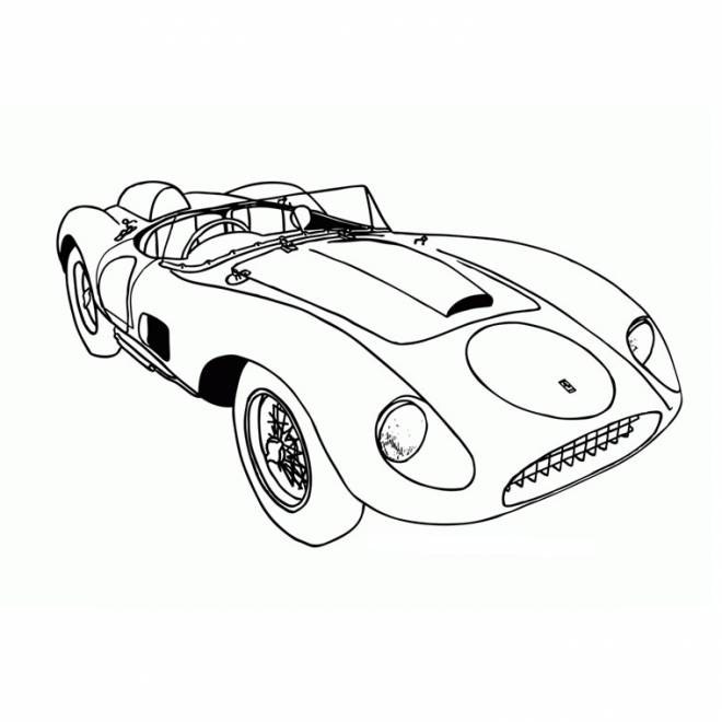 Free coloring and drawings convertible super car Coloring page
