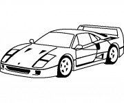Coloring pages Ferrari 250 GTO