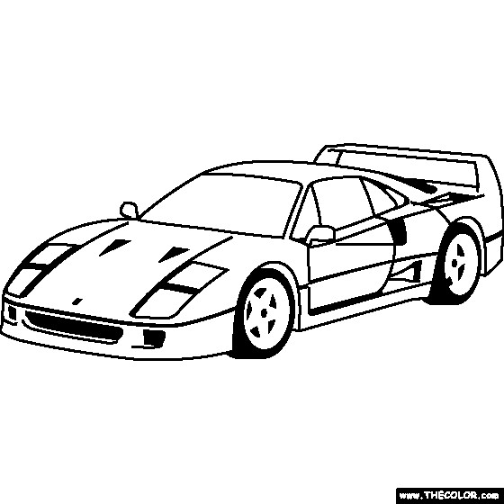 Free coloring and drawings Ferrari 250 GTO Coloring page