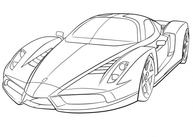 Free coloring and drawings Ferrari 458 Coloring page