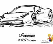 Coloring pages Ferrari 458 Italy