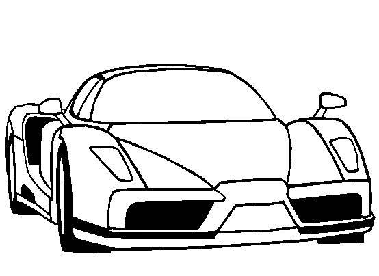 Free coloring and drawings Ferrari 458 model online Coloring page