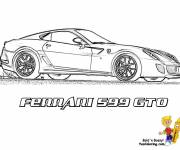 Coloring pages Ferrari 599 GTO on the road