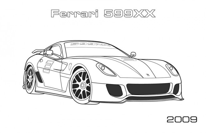 Free coloring and drawings Ferrari 599XX Coloring page