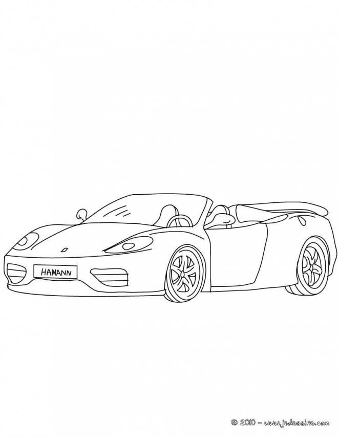 Free coloring and drawings Ferrari Cabriolet Coloring page