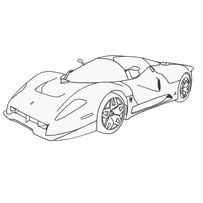 Free coloring and drawings Ferrari coloring Coloring page