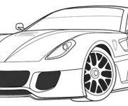 Coloring pages Ferrari coupe