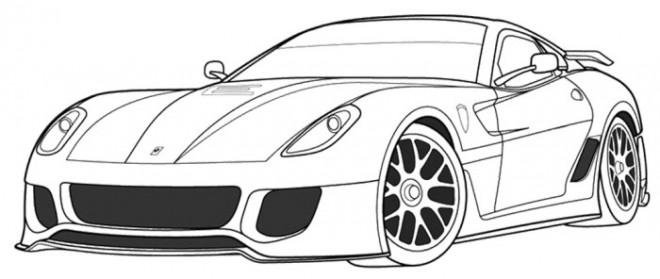 Free coloring and drawings Ferrari coupe Coloring page