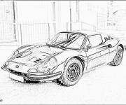 Coloring pages Ferrari coupe image