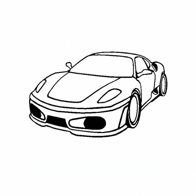 Free coloring and drawings Ferrari easy Coloring page