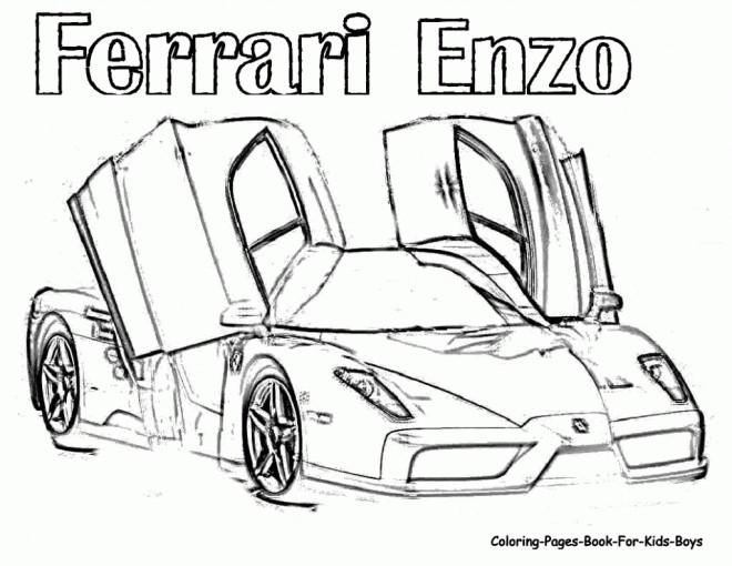 Free coloring and drawings Ferrari Enzo Coloring page