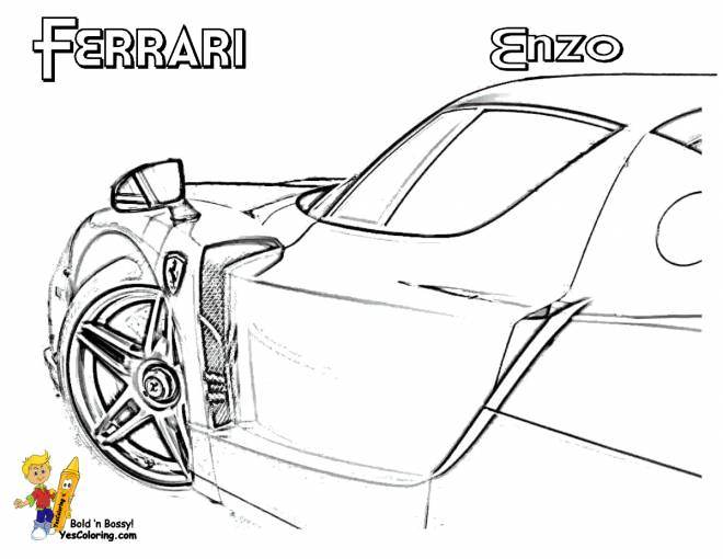 Free coloring and drawings Ferrari Enzo exterior Coloring page