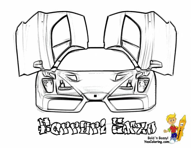 Free coloring and drawings Ferrari Enzo to download Coloring page