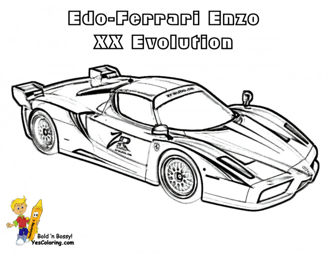 Free coloring and drawings Ferrari Enzo XX Evolution Coloring page