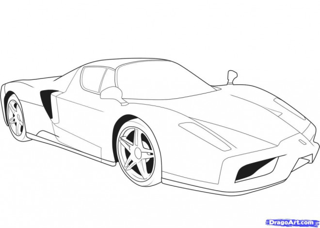 Free coloring and drawings Ferrari Evolution Coloring page