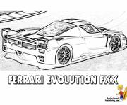 Coloring pages Ferrari Evolution FXX for race