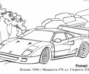 Free coloring and drawings Ferrari F-40 car Coloring page
