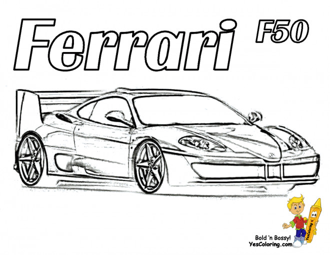 Free coloring and drawings Ferrari F50 Coloring page