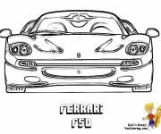 Coloring pages Ferrari F50 front view