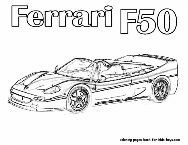 Free coloring and drawings Ferrari F50 model 2017 Coloring page