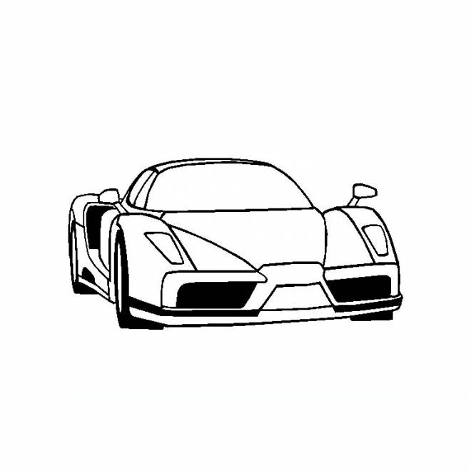 Free coloring and drawings Ferrari in black and white Coloring page