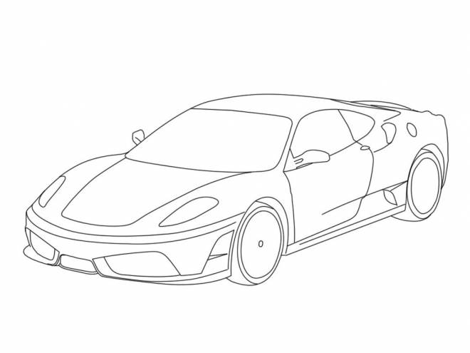 Free coloring and drawings Ferrari in color Coloring page