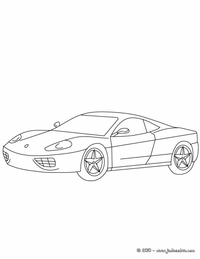 Free coloring and drawings Ferrari in pencil Coloring page