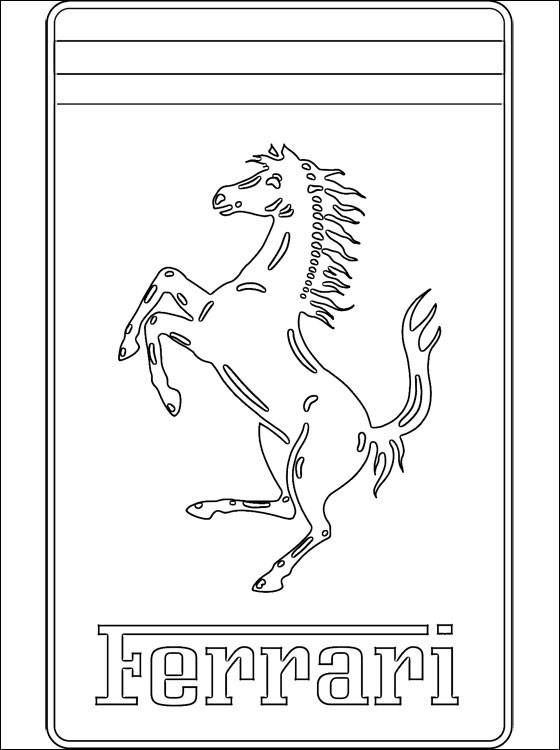Free coloring and drawings Ferrari logo Coloring page
