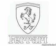 Coloring pages Ferrari logo to download
