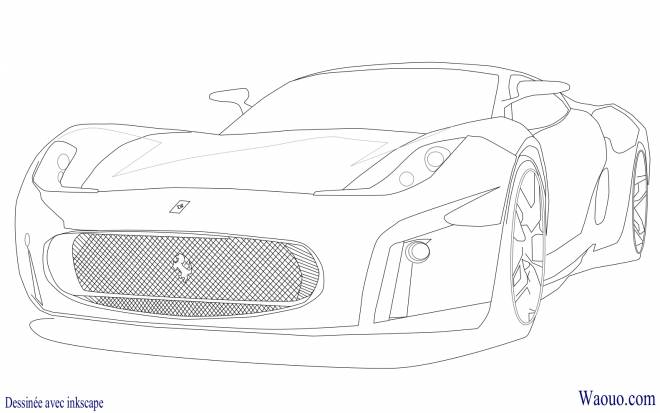 Free coloring and drawings Ferrari model F430 Coloring page