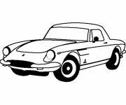 Coloring pages Ferrari old model