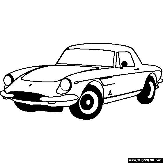 Free coloring and drawings Ferrari old model Coloring page