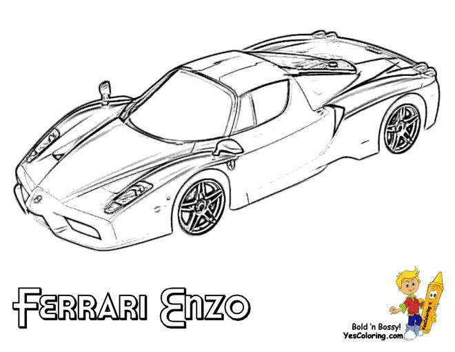 Free coloring and drawings Ferrari's Enzo Model Coloring page