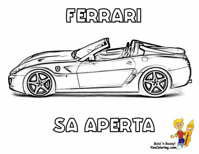Free coloring and drawings Ferrari SA Open Coloring page
