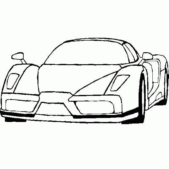 Free coloring and drawings Ferrari Scuderia color Coloring page