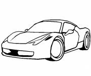 Coloring pages Ferrari single coupe