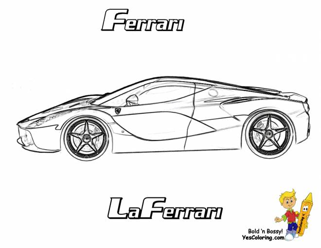 Free coloring and drawings Ferrari Sports Car Coloring page