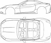 Coloring pages Ferrari Technical Sheet