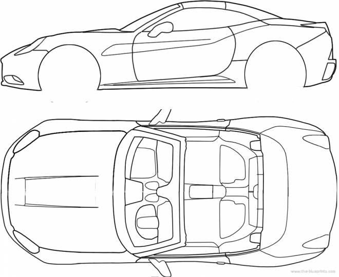 Free coloring and drawings Ferrari Technical Sheet Coloring page