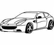 Coloring pages Ferrari to cut out