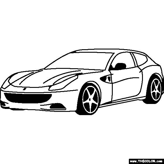 Free coloring and drawings Ferrari to cut out Coloring page