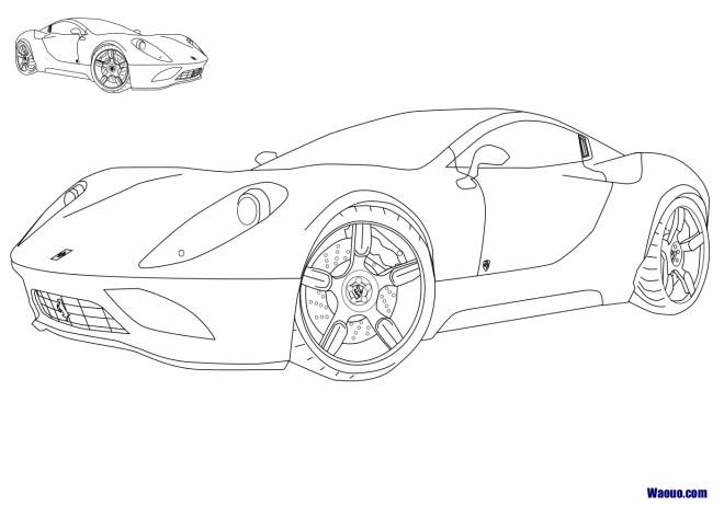 Free coloring and drawings Maternal Ferrari automobile Coloring page