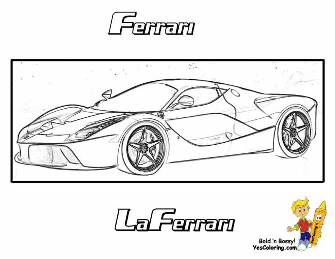 Free coloring and drawings New Ferrari Evolution model Coloring page