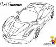 Coloring pages Stylized Laferrari