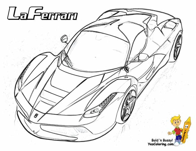 Free coloring and drawings Stylized Laferrari Coloring page
