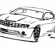 Coloring pages super Chevrolet Camaro SS