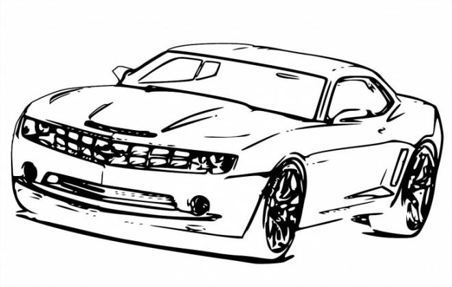 Free coloring and drawings super Chevrolet Camaro SS Coloring page