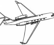 Coloring pages Civil aircraft online