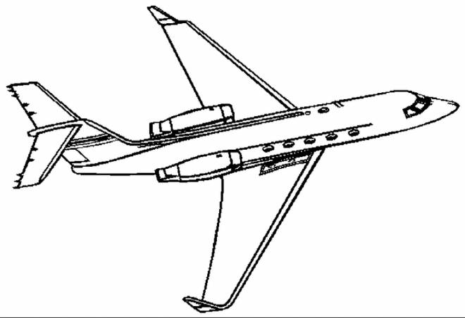 Free coloring and drawings Civil aircraft online Coloring page