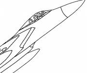 Coloring pages Easy Fighter Plane